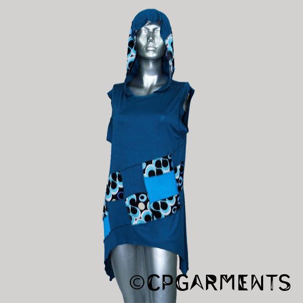 Dress cotton viscose fabric (Blue)