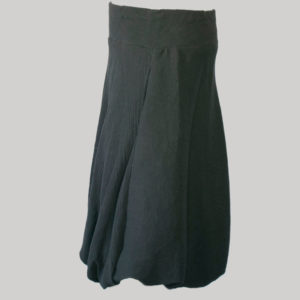 Balloon skirt crepe cotton