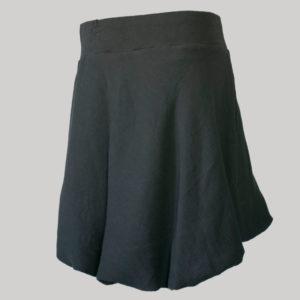 Balloon skirt crepe cotton