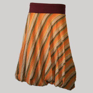 Balloon skirt hand loom cotton