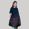 Women's a-line outline flower embroidery Dress