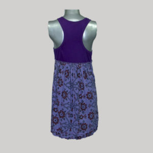 Sleeveless dress with print mix jersey cotton