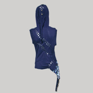 Halter top with hood Adam Saaks inspire cut work