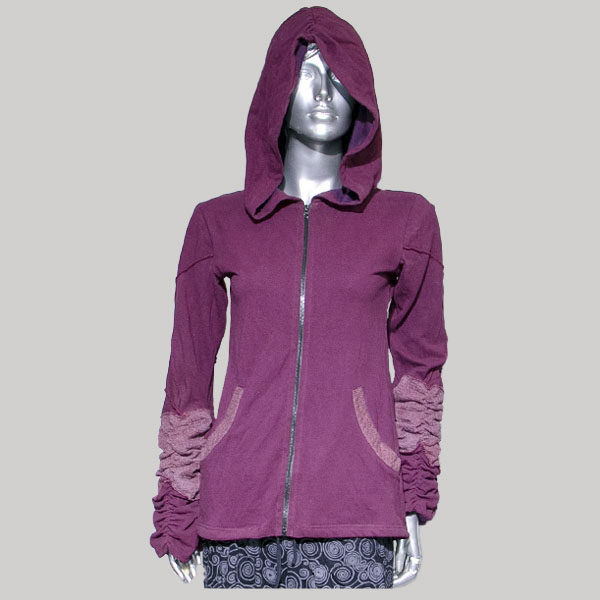 Jacket full sleeve with hood & zipper