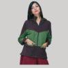 jacket polar fleece mix patches with zipper & hood