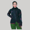 jacket polar fleece with jersey razor asymmetrical razor cut