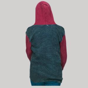 jacket rib stone wash & hand work