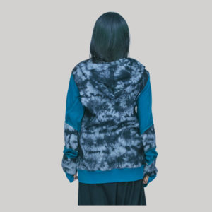 Jacket rib with tiry knitting patches with hand work