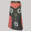 Gypsy skirt with bottom fringes (Black)