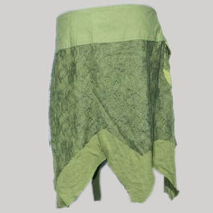 Gypsy net skirt with thick bottom fringes (Olive Green)