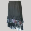Mullet skirt with jersey cotton & printed net front