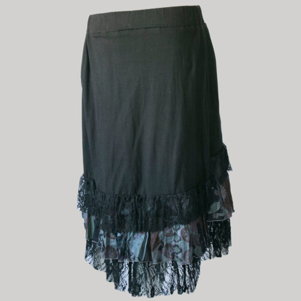 Mullet skirt with jersey cotton & printed net back