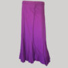 Midi skirt jersey cotton long panel patch front