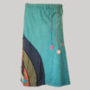 Gap midi wrap skirt jersey cotton mix panel hand work with stone wash front