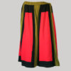 Gap midi wrap skirt with multi color patches (Olive Green) front