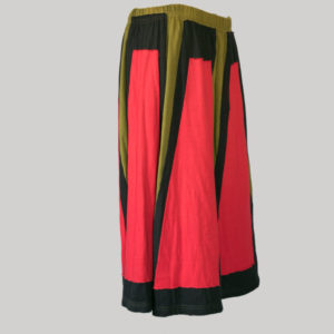 Gap midi wrap skirt with multi color patches (Olive Green) side