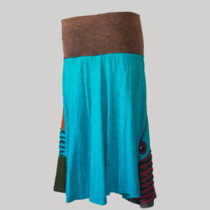 Gap midi wrap skirt with multi color patches (Brown) back