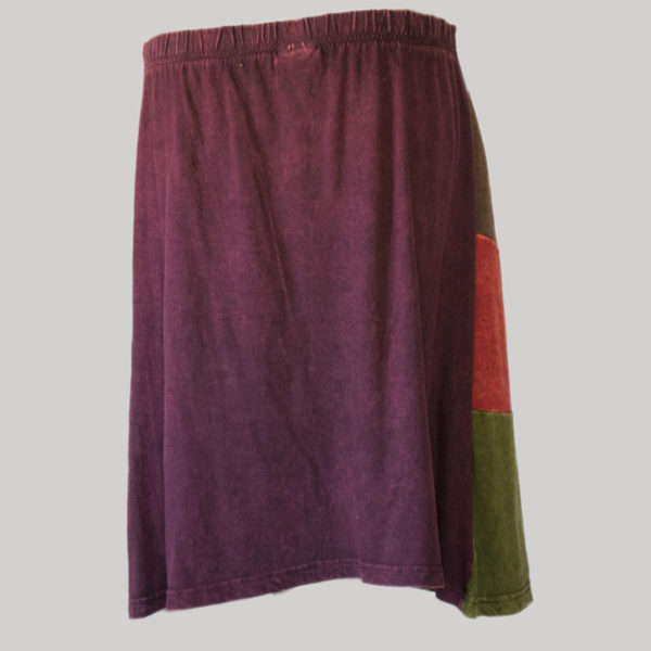 Asymmetrical razor cut gap midi wrap skirt (Purple) back