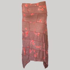 Midi skirt mix patches ti-dye (Maroon) back