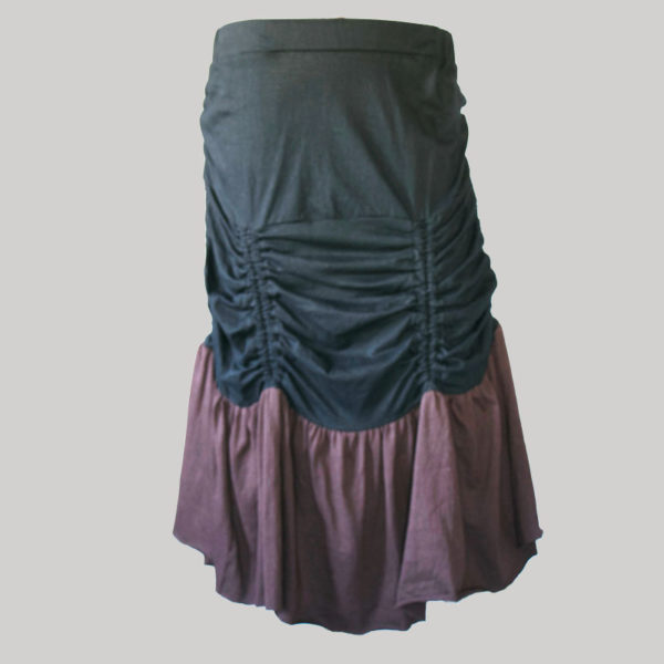 Gap midi wrap skirt jersey gather with string (Black) front