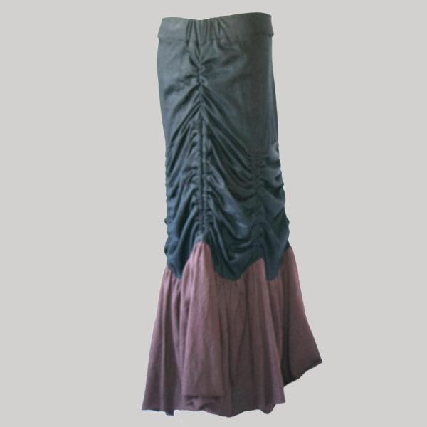 Gap midi wrap skirt jersey gather with string (Black) side