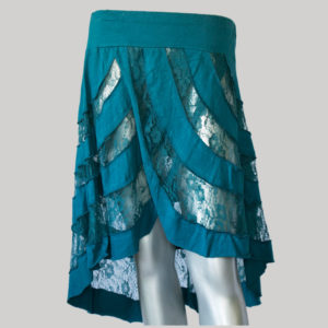 Mullet net skirt dark blue front