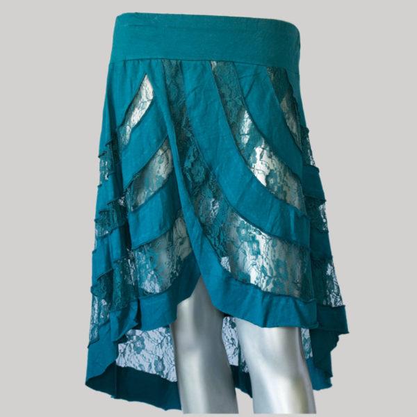 Mullet net skirt dark blue front