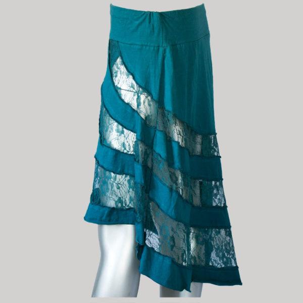 Mullet net skirt dark blue side