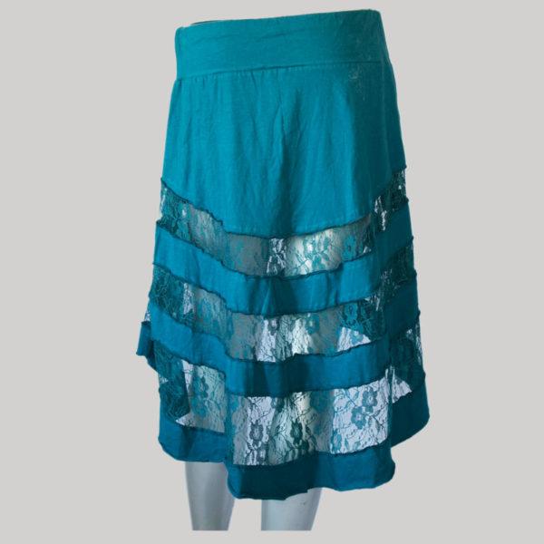 Mullet net skirt dark blue back