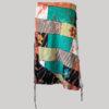 Gap midi wrap skirt with ti-dye patches front