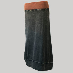 Gypsy rib cotton with hand work and stone wash (Black) back