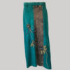 Mix patches gypsy rib skirt with hand work (Teal) front