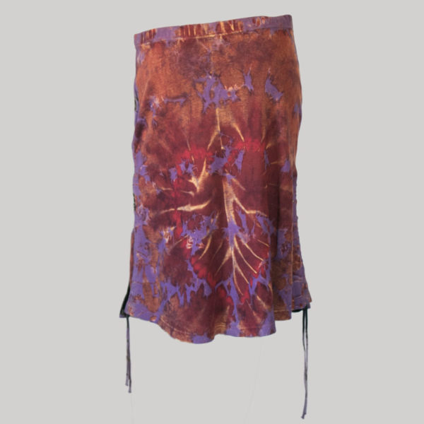 Gypsy rib skirt with ti-dye front