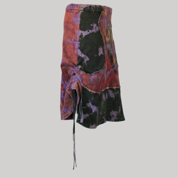 Gypsy rib skirt with ti-dye side