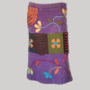 Gypsy rib skirt with razor cut patches and hand work (Purple) front