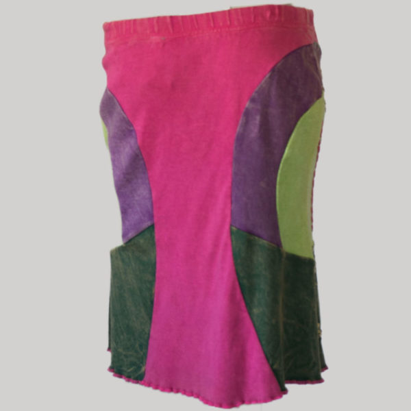 Gypsy rib skirt with hand work (Pink) back