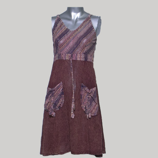 Tank dress cotton & stone wash
