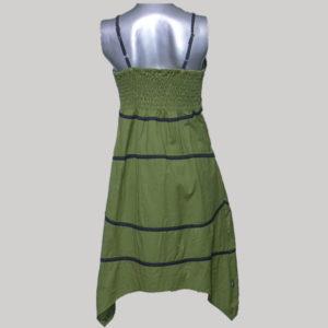 Tank dress cotton with pocket & stripes