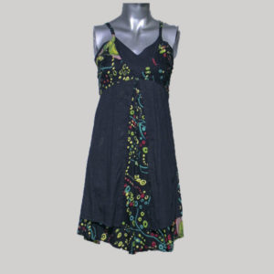 Tank dress printed cotton