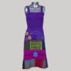 Tank long dress jersey cotton patches hand work & wash