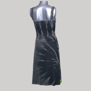 Tank long dress rib cotton patches with razor & hand work