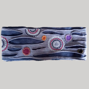 Polka-dot women's headband or head scarf (Grey)