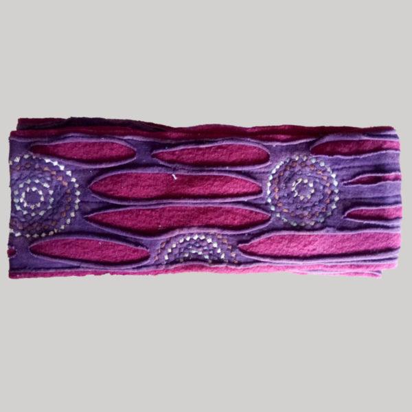Polka-dot women's headband or head scarf (Pink)