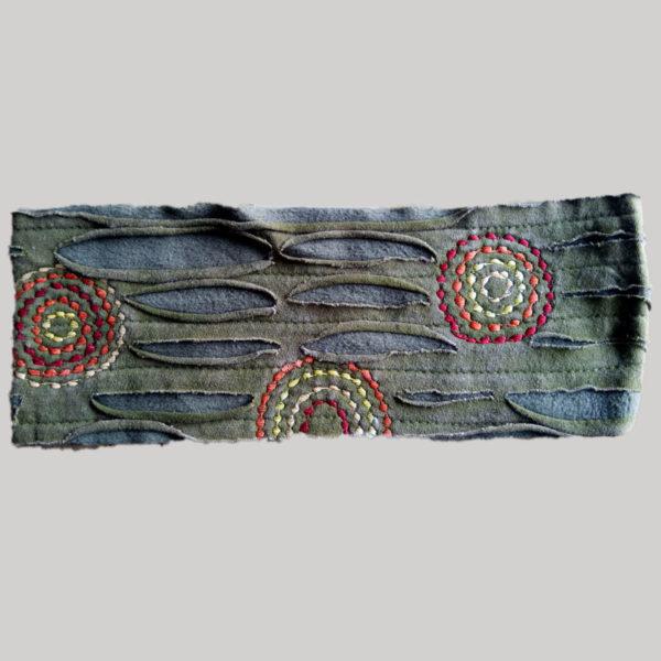 Polka-dot women's headband or head scarf (Olive Green)