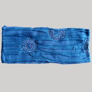 Polka-dot women's headband or head scarf (Blue)