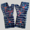 Polka-dot women's gloves with razor cut (Blue)