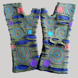 Women's gloves with polka-dot (Olive Green)