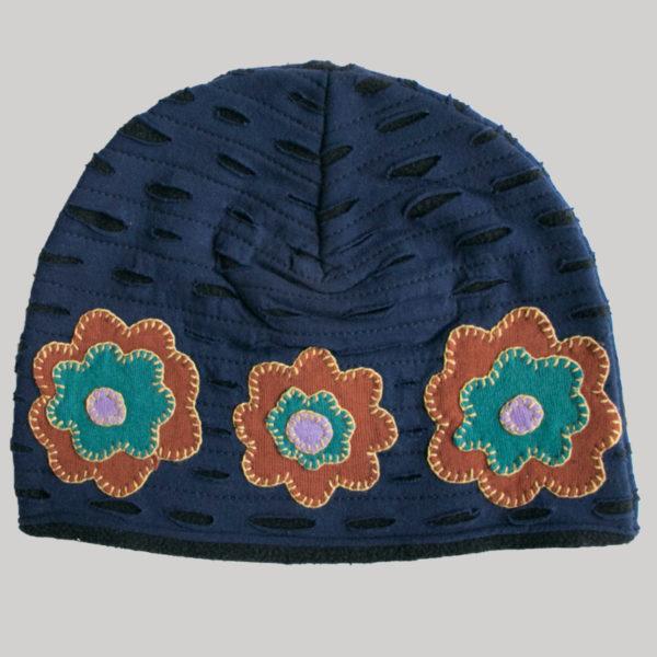 Razor cut with flower patches (Dark Blue)