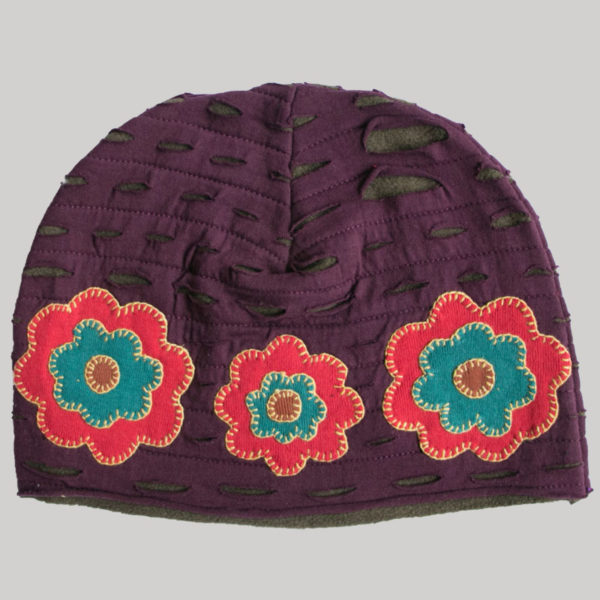 Razor cut with flower patches (Maroon)