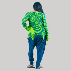 Abstract printed women's t-shirt (Light Green)